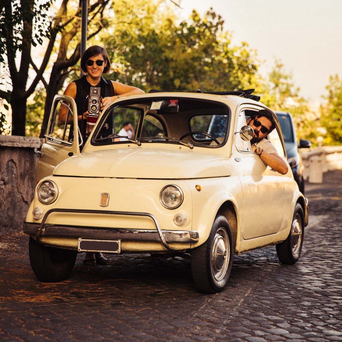 Vintage Tour with a Classic Fiat 500 - City tour in Rome