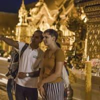 Chiang Mai Sunrise and Buddhist Rituals
