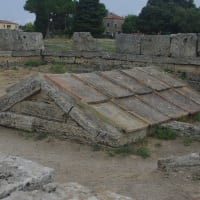 Paestum with an archaeologist