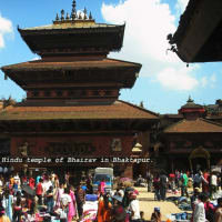 The three World Heritage Sites of Kathmandu.
