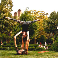 Acroyoga Class with a Local in Ciutadella Park