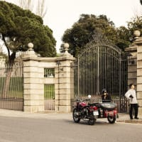 Explore Barcelona on a 2nd world war Sidecar Moto ( driven by a local)