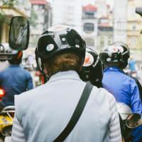 East meets west on a motorbike around Hanoi