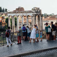 Speaking italian  in the Rome city