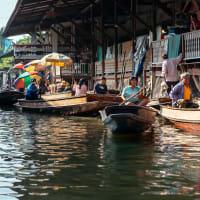 Day Trip Floating market, Train market & Tree temple