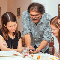 Vegetarian Style Dining:  Finest Indian Food