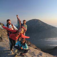 Hiking beautiful Merapi vucano