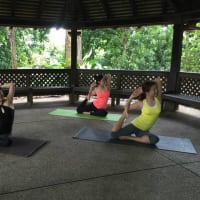 Relaxing Yoga in the Botanic Gardens