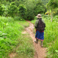 Staying Overnight in a Hill Tribe Village in Kanchanaburi