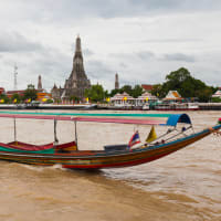 Long-tail boat...Canal Klong tour...Wat Arun