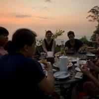 Dinner with a Sunset from Bukit Kokol!