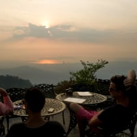 Dinner with a Sunset from Bukit Kokol!