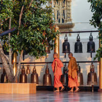 Chiang Mai Sunrise and Buddhist Rituals