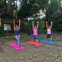 Relaxing Yoga in the Botanic Gardens