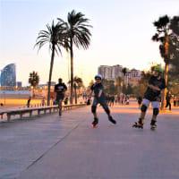 Rollerblading tour around Barcelona