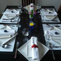enjoy cooking and fun dinner