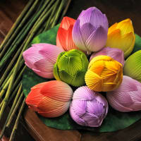Thanh Tien Paper Flowers Village and Bao Vinh