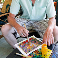 Art therapy & fruit picking