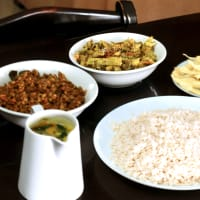 Mouth watering traditional vegetarian lunch