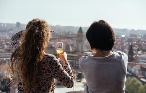 Italian milf on a rooftop