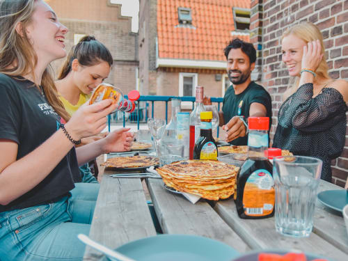 Delicious Dutch Treat: Homemade Pancakes!