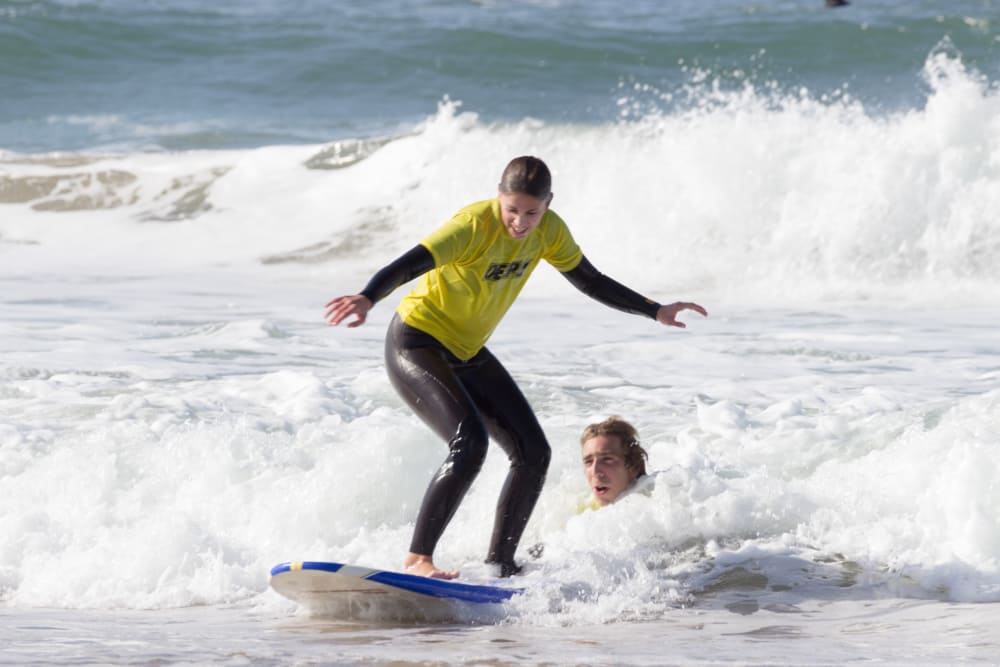 Surfing with a PRO in Porto