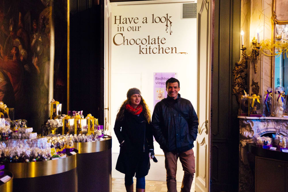 Chocolate walk with a local image 3