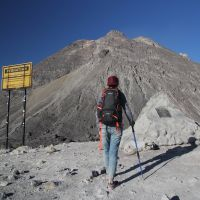 Hiking beautiful Merapi vucano