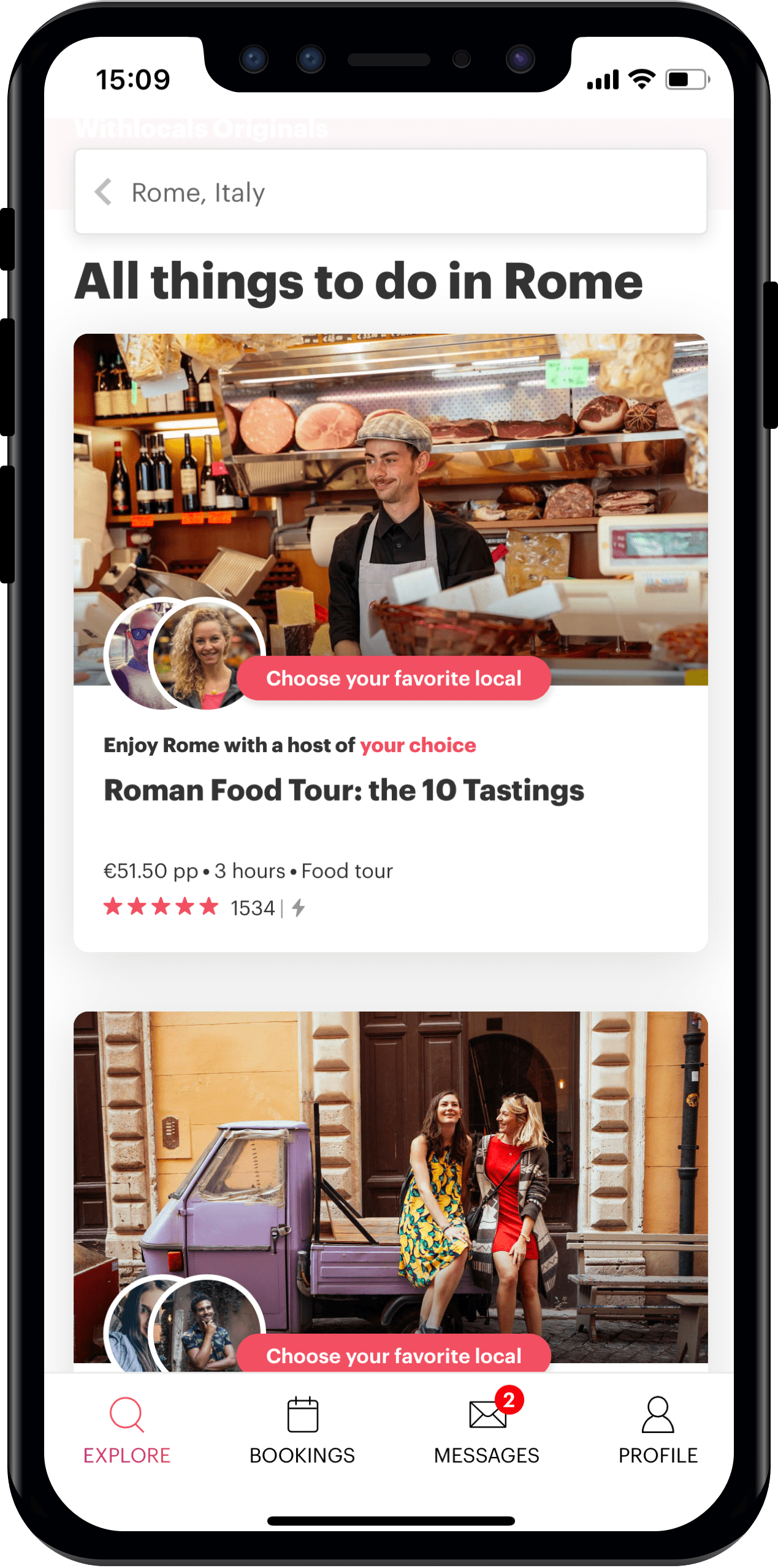 Connect with Locals with the Withlocals iPhone app