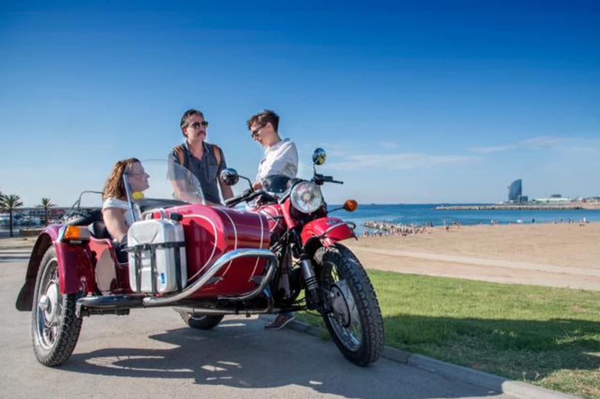 Vintage Sidecar Motorcycle Tour Through Barcelona Barcelona