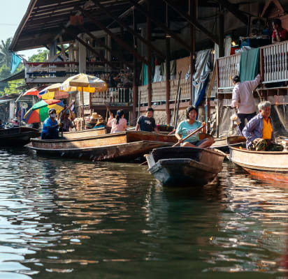 Rural Floating Market in Amphawa & Boat Tour