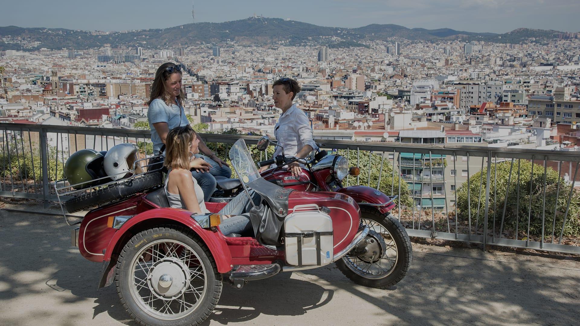 Sidecar Ride App >> Vintage Sidecar Motorcycle Tour Through Barcelona